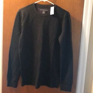 Men's brand new waffle knit shirt